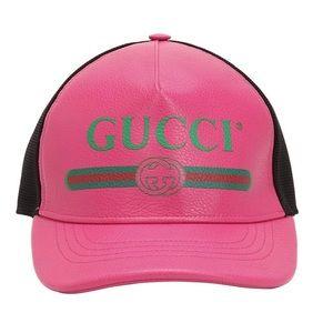 Gucci Leather Print Baseball Hat 🧢
